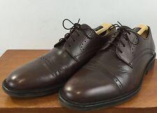 BASS Mens BUNKER Cap Toe FLEX SOLE Oxford COMFORT Leather Shoes Size 10.5 M
