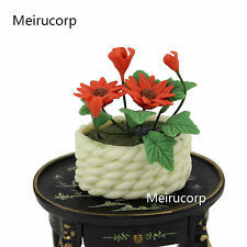 Dollhouse 1/12 Scale Well Made Miniature Nice FLOWER Basket flowerpot