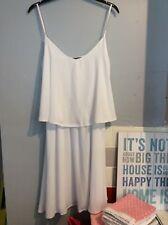 White sleeveless dress size 14