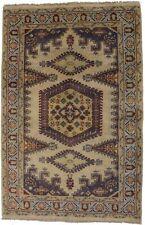 Hand-Knotted Geometric Design 4X6 Viss Tribal Design Oriental Rug Foyer Carpet