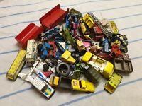 Vintage Diecast Cars Job Lot Bundle Spares Repair Corgi Dinky Matchbox