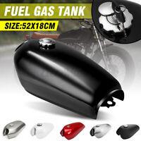 Motorcycle 9L 2.4 Gallon Fuel Gas Tank Cover Set Cap For Honda CG125 Cafe Racer