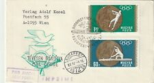 1969 Hungary cover sepcil flight from Budapest to Tunis