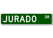 JURADO Street Sign - Personalized Last Name Sign