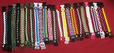 """Survival Paracord Bracelets - Group of 23 """"Hand made"""""""