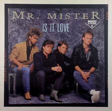 "MR Mister-IS IT LOVE - 12"" MAXI-k1247 - - Slavati & cleaned"
