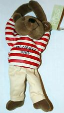 """Russ Teddy Bear - """"Hanging Around"""" - Members Only T - New! Vintage Collectible"""