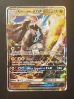 Kommo-o GX 100/145 Gaurdians Rising Ultra Rare Heavily Pokemon NM