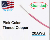 20AWG Pink wire PUL1007  PVC Wire  Copper Tinned Hook-Up 300V L=10 meter (33ft)