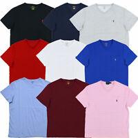 Polo Ralph Lauren Mens T-shirt V-neck Top Tee Shirt Pony Logo New S M L Xl Xxl