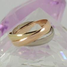 Echter Ringe im Dreierring-Stil aus mehrfarbigem Gold für Damen