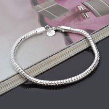 New Fashion Men Women Silver Plated Snake Chain Bangle Bracelet Jewelry Gift