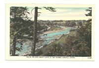 ONE OF THE MANY BEAUTY SPOTS AT THE HUMBER, TORONTO, ONTARIO VINTAGE POSTCARD