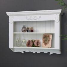 Ornate white shelving unit display storage kitchen living room French vintage