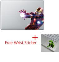Iron Man Apple Macbook Air Pro 13 Sticker Skin Decal Vinyl Cover + Hulk