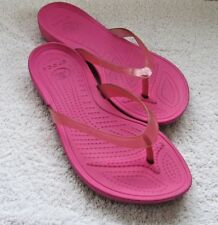 Crocs Really Sexi Flip Flop Sandals Pink, Padded Footbed US Women's Size 7