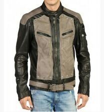 Diesel Mens Laber 900 Leather Jacket XL