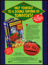 KILLER TOMATOES STRIKE BACK__Original 1991 Trade Print AD movie promo_JOHN ASTIN