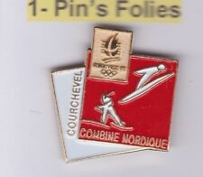 Pin's Folies Badge Albertville Olympic games 1992 Combiné Nordique Courchevel