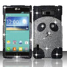 LG Optimus Showtime Crystal Diamond BLING Hard Case Phone Cover Panda