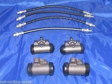 4 Wheel Cylinders & Brake Hoses 1960 Cadillac - New Set
