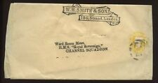 GB QV to SHIP..STATIONERY WRAPPER 1 1/2d YELLOW...WH SMITH ..HMS ROYAL SOVEREIGN