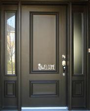 Welcome Pineapple Front Door Vinyl Decal Sign