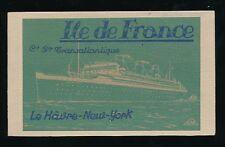 Shipping Liner ILE de FRANCE complete fine clean booklet 20 PPCs c1930s
