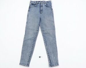 Vintage 90s Streetwear Womens Size 11 Tapered Skinny Leg Denim Jeans Distressed