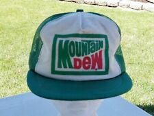 Vintage 1980s Mountain Dew Mesh Trucker Hat Snapback Hat Baseball Cap USA Made