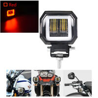 1x 3inch LED Work Light Bar Red Halo Driving Fog Lamp Motorcycle ATV Offroad 4WD
