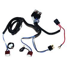 "Ceramic H4 7"" Headlight 2 Headlamp Light Bulb Socket Plug Relay Wiring Harness"