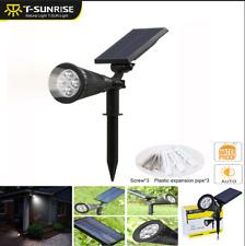 LED Solar Power Spotlight Waterproof Outdoor Garden Lamp Landscape Lights 6000K