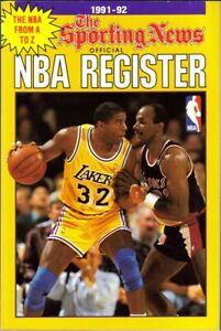 1996 SPORTING NEWS OFFICIAL BASKETBALL REGISTER (MAGIC JOHNSON /CLYDE DREXLER CV
