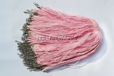 wholesale 20pcs Pink Organza Ribbon Necklace Silk Cord Clasp 450mm FREE