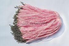 wholesale 20pcs Pink Organza Ribbon Necklace Silk Cord Clasp 450mm FREE