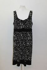 MICHAEL MICHAEL KORS Ladies Black/White Sleeveless Cowl Neck Printed Dress L
