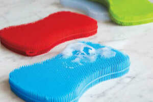 Silicone Cleaning Sponge Small & Handy in 8 colours Quality and Value UK SELLER