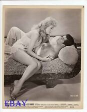 Ray Danton barechested,  Karen Steele leggy VINTAGE Photo