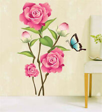 Big Rose Flowers Hoom Room Decor Removable Wall Sticker Decal Wandtattoo