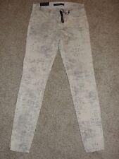 New Womens J Brand Jeans Sz 28 Gray White Mid Rise Super Skinny Jeans