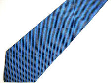 Brooks Brothers Makers Mens Necktie Tie Blue Geometric Striped Silk 58""