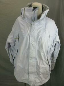 BONFIRE SIZE L WOMENS GRAY KINETIC SERIES INSULATED DOWN HOODED SKI JACKET T398