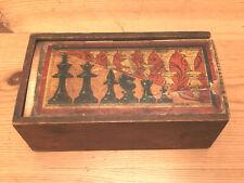 Vintage Staunton Chess Set, With Illustrated Design Box