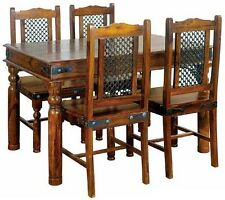 Brand New Jali Ganga-Indian Solid Sheesham Wood-135 Cm TABLE ONLY(WITHOUT CHAIRS