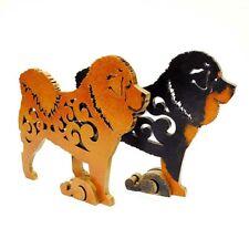 Tibetan mastiff figurine, dog statue made of wood (MDF), hand-painted