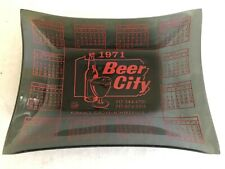 Vintage 1970's Beer City Glss Ashtray Minersville, Pa