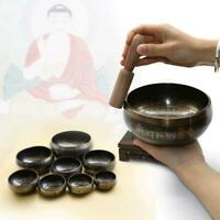 Tibetan Brass Handmade Buddhist Meditation Chakra Singing Healing Bowl