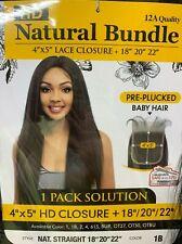 Hair HD Closure 182022 Extensions BUNDLES LONG STRAIGHT HAIR 12A Quality