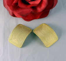 Clip on Earrings Cat Rescue Gorgeous Norma Jean Gold tone Textured